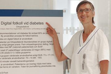 Ulla Hellstrand Tang arbetar på Ortopedteknik